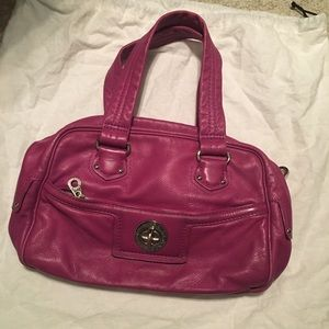 Magenta Colored Leather Marc Jacobs Purse